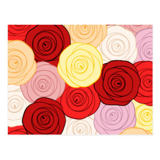 Roses Pattern Postcard