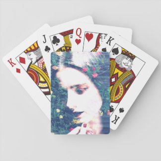 Roses Romantic Mood Girl Beauty Floral Summer Playing Cards