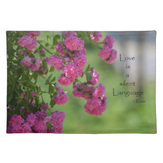 Roses with Love Quote Placemat