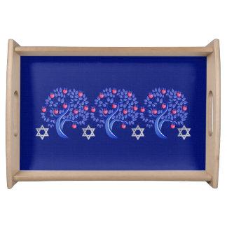 Rosh Hashanah   Jewish New Year Challah Tray