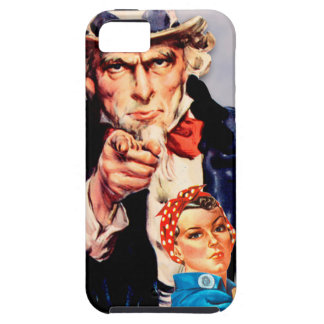Rosie the Riveter & Uncle Sam design iPhone 5 Cover