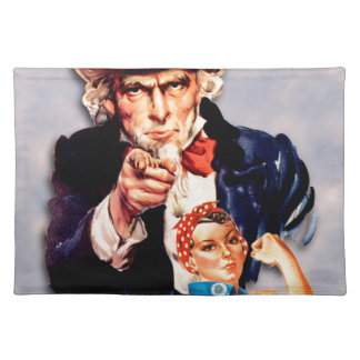 Rosie the Riveter & Uncle Sam design Placemat