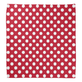 Rosie the riveter white polka dots on red head kerchiefs