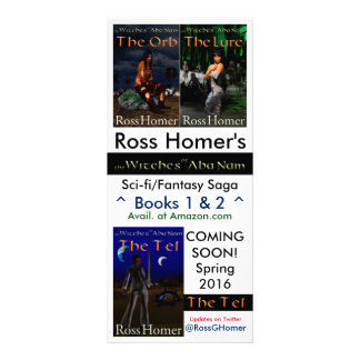 Ross Homer - author rack card