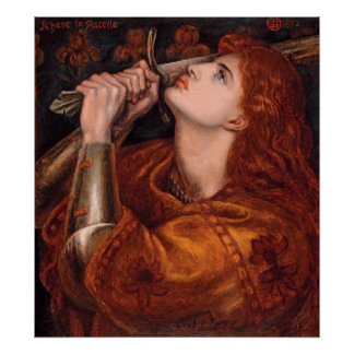 Rossetti Joan of Arc CC0762 Semi-Gloss Poster