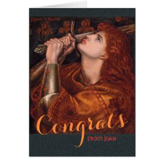 Rossetti Joan of Arc Congrats CC0763 Card
