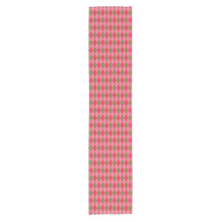 Rosy Pink and Green Diamond Argyle Pattern