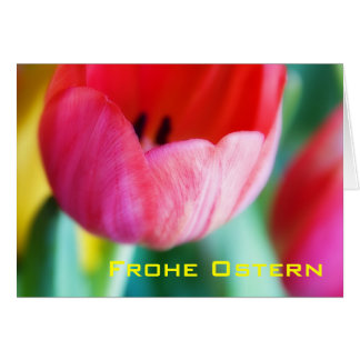 Rote Tulpen • Osterkarte Greeting Card
