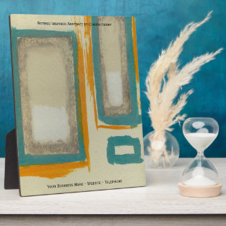Rothko Inspired Abstract Plaque