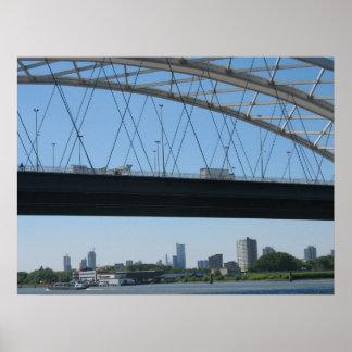 Rotterdam Bridge and Skyline Poster