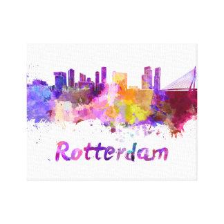 Rotterdam skyline in watercolor canvas print