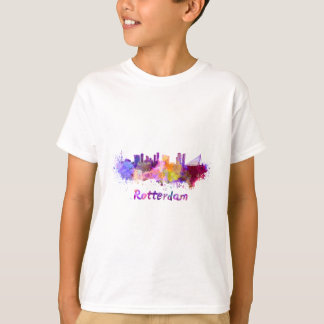 Rotterdam skyline in watercolor T-Shirt