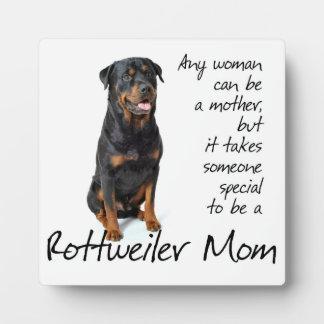 Rottie Mom Plaque