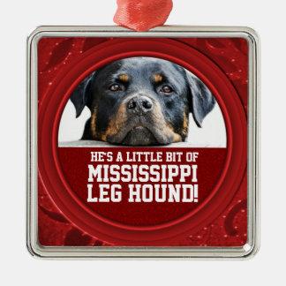 Rottweiler Dog Mississippi Leg Hound Pet Photo Christmas Ornament