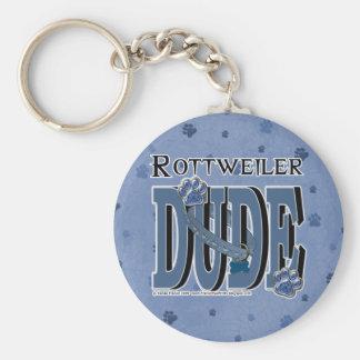 Rottweiler DUDE Key Ring