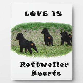 Rottweiler hearts plaque