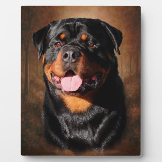 Rottweiler Plaque With Easel