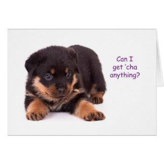 Rottweiler Puppy Get Well Card