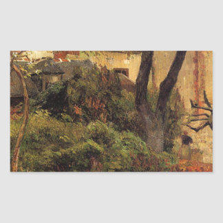 Rouen at spring by Paul Gauguin Rectangular Sticker