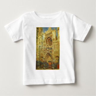 Rouen Cathedral at Sunset by Claude Monet Baby T-Shirt