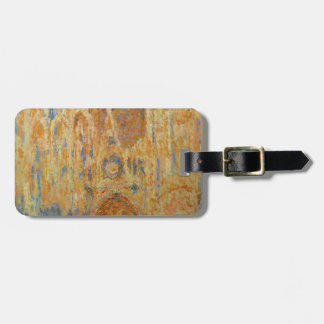 Rouen Cathedral by Claude Monet Luggage Tag