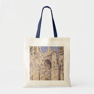 Rouen Cathedral, Harmony Blue Gold by Claude Monet Tote Bag