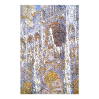 Rouen Cathedral, Sunlight Effect by Claude Monet Stationery