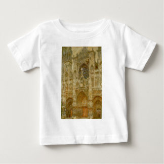 Rouen Cathedral,The Gate, Grey Weather by Claude Baby T-Shirt