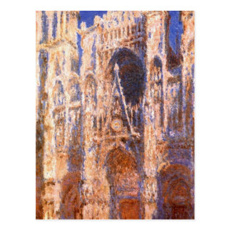 Rouen Cathedral, the Portal in the Sun by Claude Postcard