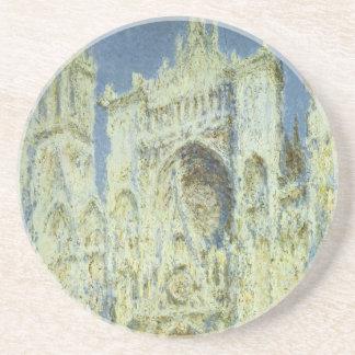 Rouen Cathedral West Facade Sunlight, Claude Monet Coaster
