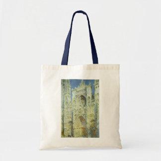 Rouen Cathedral West Facade Sunlight, Claude Monet Tote Bag