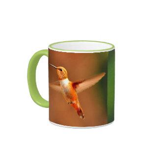 ROUFUS HUMMINGBIRD ORANGE BIRD HUMMINGBIRD MUG