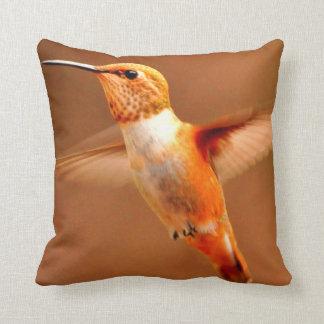 ROUFUS HUMMINGBIRD ORANGE BIRD HUMMINGBIRD PILLOW THROW CUSHION