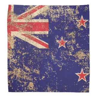 Rough Aged Vintage New Zealand Flag Kerchiefs