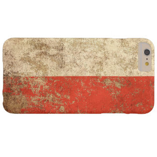 Rough Aged Vintage Polish Flag Barely There iPhone 6 Plus Case
