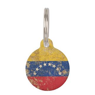 Rough Aged Vintage Venezuelan Flag Pet ID Tag