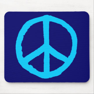 Rough Peace Symbol - Shades of Blue II Mouse Pad