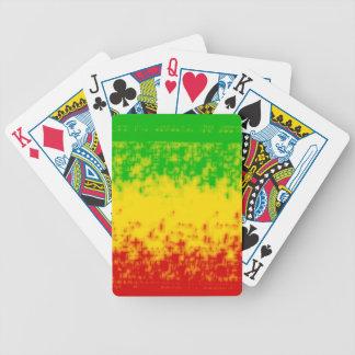 Rough Rasta Design Bicycle Playing Cards