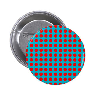 Round Button with Red Polka-Dots
