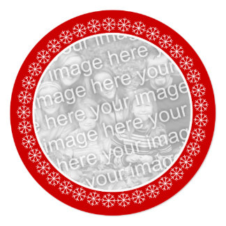 Round Christmas party invitations | Add your photo