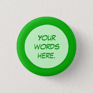 Round Green Circle Your Words Here Buttons