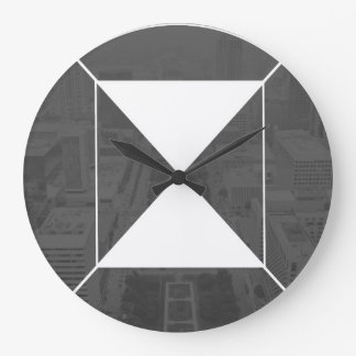 Round (Large) Wall Clock default logo (grey/white)