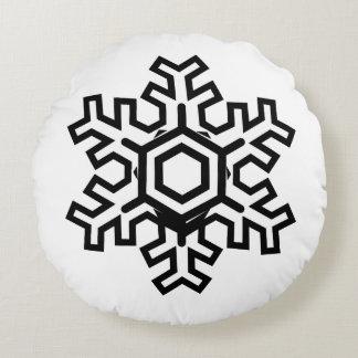 Round minimal pillow snowflake theme