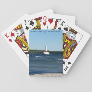 Round Passage Light - Mackinac Island, Michigan Playing Cards