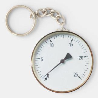 Round Pressure Gauge Dial Keychain