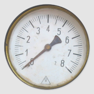 Round Pressure Meter Dial Stickers