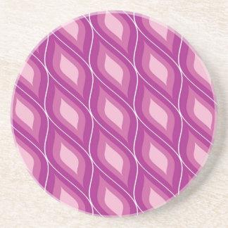 Round Retro Rhombuses Coaster