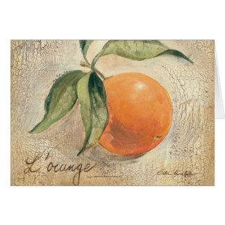 Round Shiny Orange Fruit Greeting Card