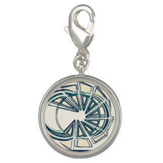 Round Silver Plated Charm