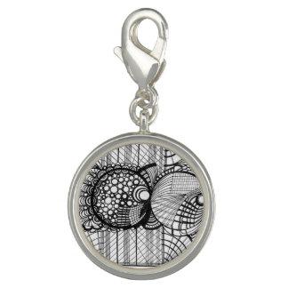 Round Silver Plated Charm (Elyssa)
